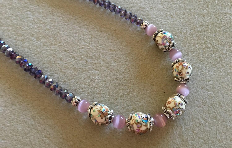 japanese tensha bead necklace by vintagejewelryroom on etsy