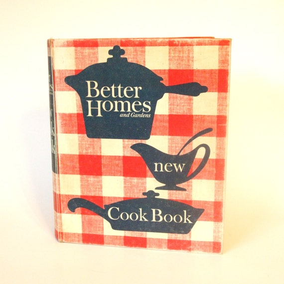 Vintage Better Homes And Gardens New Cookbook Red