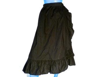 Vintage Black Wrap Skirt 1045 PARK