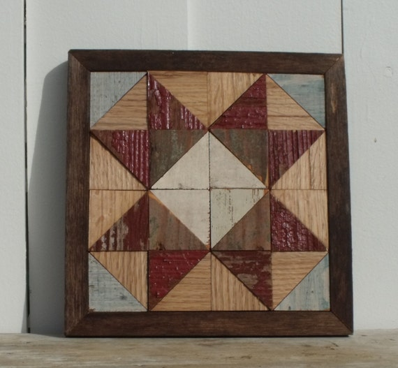 wooden quilt block, reclaimed barn quilt block