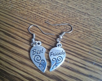 Best Friends Earrings with stainless steel french hooks