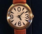 Raketa Gold Plated Soviet watch Russian watch  Vintage Gorbi Watch - Men watch Mechanical watch men's watch -black and white watch - montre
