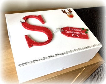Christmas Eve Box | Christmas Box | Children's Christmas Box | Personalised Christmas Eve Box | White Luxury Gift Box | 1st Christmas Box