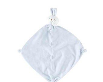 Monogrammed Blue Bunny Lovie / Angel Dear / Personalized Blankie / Security Blanket / Baby Blankie Gift / Animal Blankie
