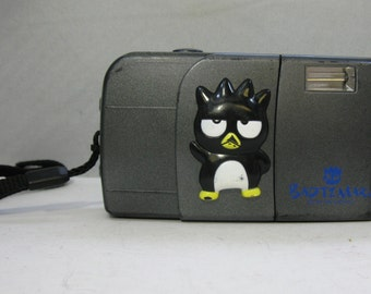 Rare Vintage BadtzMaru 35mm Film Flash Camera Sanrio Japan Bad Batzu Maru XO Hello Kitty Series