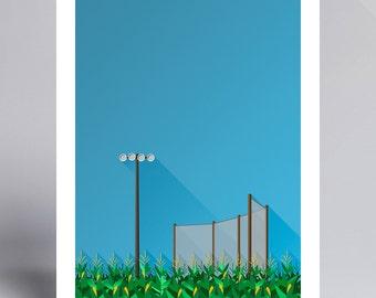 Minimalist Field of Dreams - Ballpark Art Print