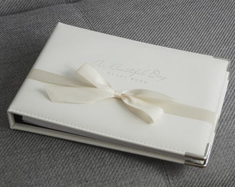 Our Beautiful Day Leather Wedding Guest Book (6E1)