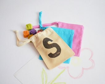 Personalised Drawstring Crayon Bags