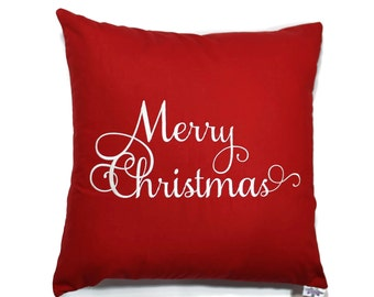 Merry Christmas Pillow Cover, Holiday Pillow Cover, Christmas Gift, Gifts for Her, Throw Pillow Cover, Gifts Under 50, Christmas Decor
