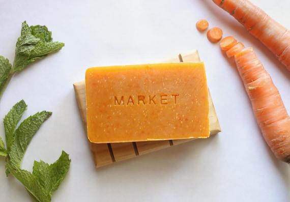 MARKET // Handmade // All Natural // Vegan // Carrot // Spearmint // Patchouli // Soap