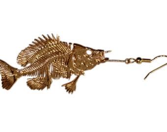 Bluegill fish Skeleton Earrings | Bluegill Earrings | Fish Earrings | Fish skeleton
