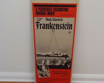 Vintage 1973 Andy Warhol's Frankenstein Film Movie Poster Australian Day Bill Horror Fetish
