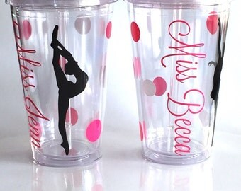 Dance Teacher, Personalized Tumbler for Team,  Recital Gift, Dancer Gift, Ballet Dancer Gift, Dancer Tumbler,