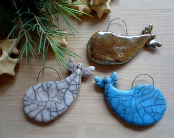 3 little angels Christmas tree decoration-Angels-raku-raku handmade Angels-Christmas decoration-raku