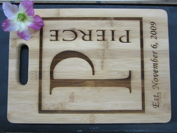 5th Anniversary Gift Traditional Gift Personalized Bamboo