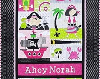 Amy Bradley Pirates Quilt Pattern & Pre-cuts Kit for Girl Version