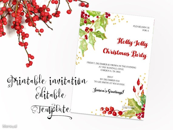 Eloquent image intended for printable holiday invitation