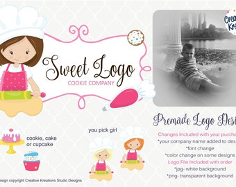 Premade Bake Shop Whisk Bakers Bakery Logo Design Boutique Logo Watermark Cupcake Logo Cake Logo Cookie Logo Branding Logo