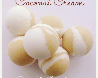 Coconut Bath Bombs, Coconut bath products, Bath bombs, Bath fizz, Moisturising bath products,
