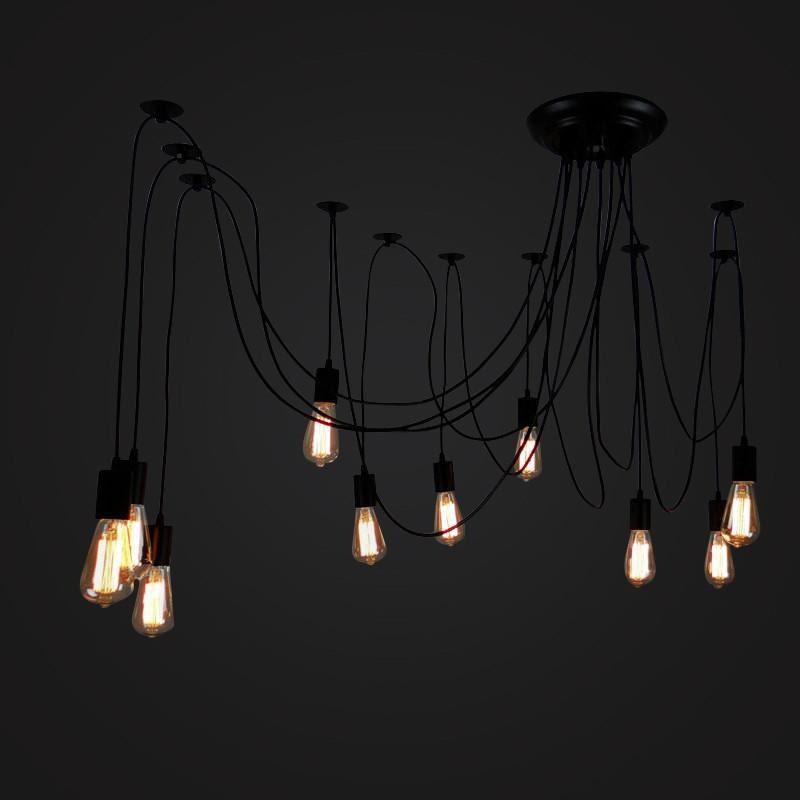 lampe de plafond ampoule edison suspendu suspension. Black Bedroom Furniture Sets. Home Design Ideas