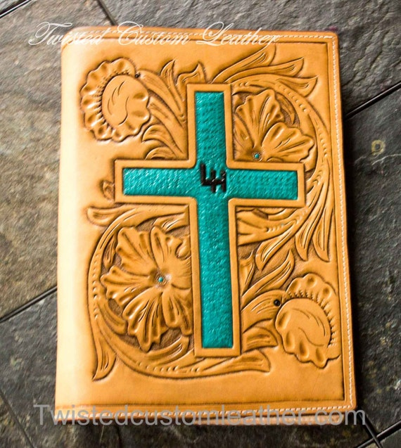 handmade leather bible covers items similar to custom made leather bible cover on etsy 8985