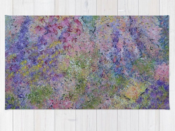 throw rug abstract rug pastel colors colorful rug unique