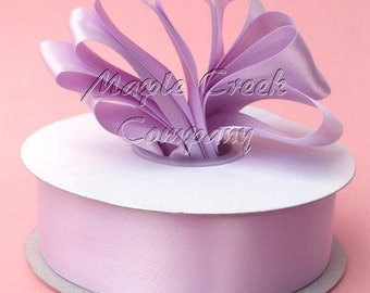3/8 inch x 100 yards of Lavender Orchid Double Face Satin Ribbon