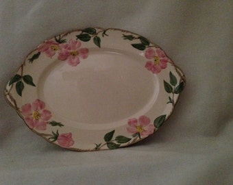 "Franciscan Desert Rose 14"" PLATTER - Hand Decorated Old USA Earthenware / Collectible"