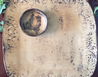 Pottery Serving Platter/ Plate