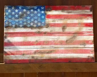 Reclaimed wood  US Flag