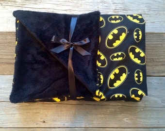 Batman baby blanket, batman security blanket, batman lovey