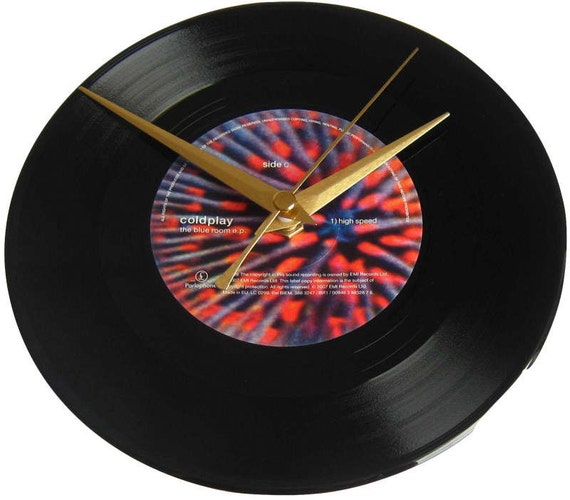 Coldplay Vinyl Record Clock The Blue Room High Speed Wall