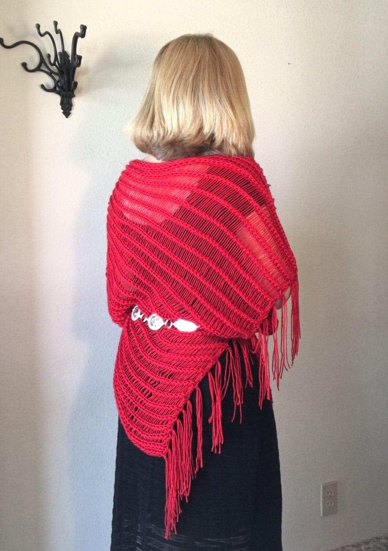 Loom Knitting Poncho : Indian paintbrush poncho a loom knit pattern
