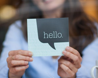 Hello callout greeting card