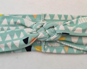 "Mint Triangle ""sailors knot"" headband"