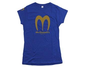 Coming To America: Mcdowells Ladies Fit T-shirt