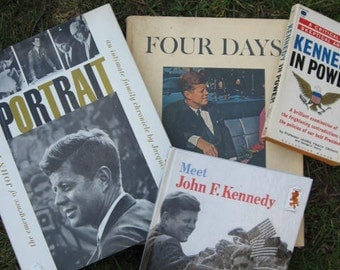 John F Kennedy JFK Book Collection - 1960's US Presidents Politics History Portrait Jfk, Meet Jfk, Four Days, Kennedy in Power Vintage