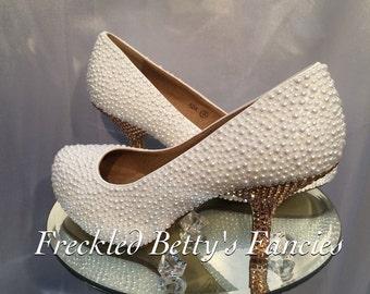 Wedding pearl heels