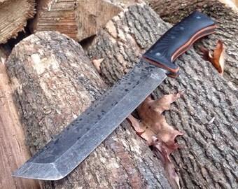 Sentinel Military Survival Knife - Handmade Custom Knife by Knifemaker Dan Freda