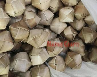 Lauhala Balls, Woven Lauhala Balls, 1 pack = 100 pcs