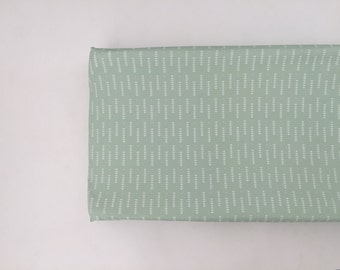 Changing Pad Cover -  Mint Triangle Arrows