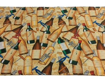 Wine Bottle Print Placemats