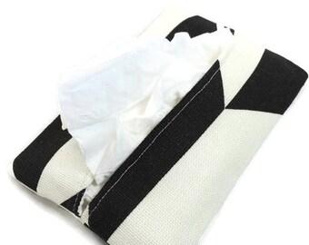 Travel Tissue Holder Kleenex Pouch in Herringbone