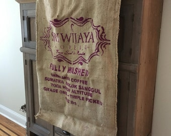 Large Burlap Coffee Bag- Grain Sack