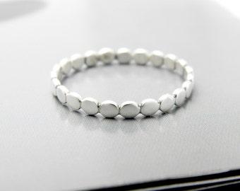 Silver balls ring, slim silver ring, thin balls ring, thin silver ring, Dots ring