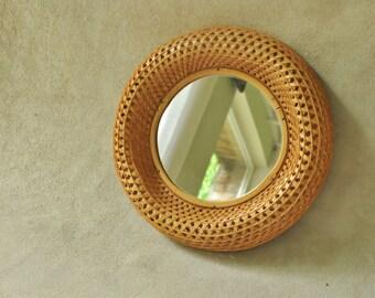 Nice mirror made of twisted fibers