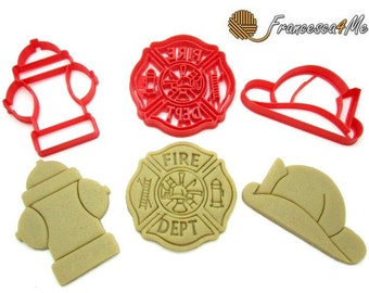 Fire Fighter Cookie Cutters/Set of 3