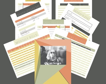 Modern Budget Printables (orange)
