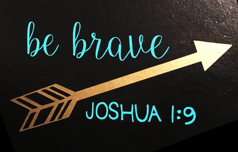 Joshua Arrow Vinyl Decal Bible Decal Car Decal Yeti - Bible verse custom vinyl decals for car