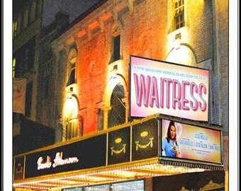 """A Broadway Notecard featuring    """"WAITRESS"""""""